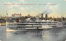 shi045367 - Hudson River Day Line Steamer Albany, NY USA Ship Postcard Post Card
