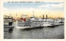 shi045369 - Day Line Boat Hendrick Hudson Albany, NY USA Ship Postcard Post Card