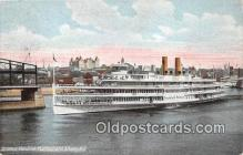 shi045375 - Steamer Hendrick Hudson Albany, NY USA Ship Postcard Post Card
