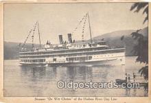 shi045376 - Steamer De Witt Clinton Hudson River Day Line Ship Postcard Post Card