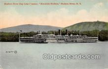 shi045378 - Hudson River Day Line Steamer Hudson River, NY USA Ship Postcard Post Card