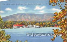 shi045379 - Red Hill & Center Harbor Lake Winnipesaukee, NH USA Ship Postcard Post Card