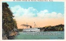 shi045382 - Str Camden Penobscot River, Maine Ship Postcard Post Card