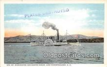 shi045383 - Str Mt Washington & Ossipee Range Lake Winnipesaukee, NH USA Ship Postcard Post Card