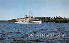 shi045384 - Mount Washington, Sandy Island Lake Winnipesaukee, NH USA Ship Postcard Post Card