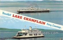 shi045386 - Ferry Crossings Lake Champlain Ship Postcard Post Card