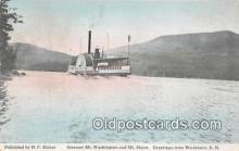 shi045387 - Steamer Mt Washington Wolfeboro, NH USA Ship Postcard Post Card