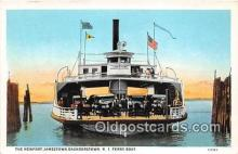 shi045390 - Newport Jamestown Sauderstown R I Ferry Boat Ship Postcard Post Card