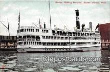 shi045391 - Boston Floating Hospital Boston Harbor, Mass Ship Postcard Post Card
