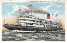 shi045394 - SS Christopher Columbus Milwaukee, Wisconsin Ship Postcard Post Card