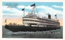 shi045397 - Whaleback Steamer Christopher Columbus Milwaukee, Wisconsin Ship Postcard Post Card