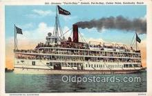 shi045399 - Steamer Put In Bay Cedar Point Ship Postcard Post Card