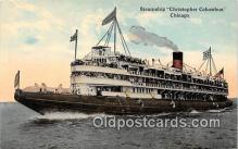 shi045400 - Steamship Christopher Columbus Chicago Ship Postcard Post Card