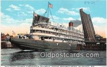 shi045401 - Whaleback Steamer Christopher Columbus Milwaukee, Wisconsin Ship Postcard Post Card