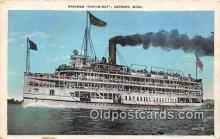 shi045404 - Steamer Put In Bay Detroit, Michigan Ship Postcard Post Card