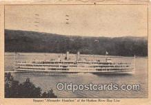 shi045410 - Steamer Alexander Hamilton Hudson River Day Line Ship Postcard Post Card