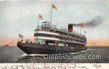 shi045413 - SS Christopher Columbus Chicago, Illinois USA Ship Postcard Post Card