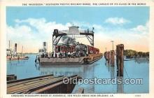 shi045414 - Mastodon, Southern Pacific Railway Barge New Orleans, LA USA Ship Postcard Post Card