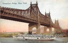 shi045415 - Queensboro Bridge New York Ship Postcard Post Card