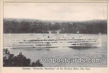 shi045418 - Steamer Alexander Hamilton Hudson River Day Line Ship Postcard Post Card