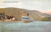 shi045419 - Hudson River West Point, NY USA Ship Postcard Post Card