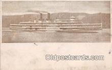 shi045420 - Hudson River Day Line Steamer  Ship Postcard Post Card