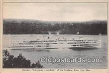 shi045421 - Steamer Alexander Hamilton Hudson River Day Line Ship Postcard Post Card
