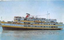 shi045422 - SS Mount Vernon Wilson Lines, New Pier Four Ship Postcard Post Card