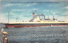 shi045426 - Ferry Hillsborough Bradenton, Florida USA Ship Postcard Post Card