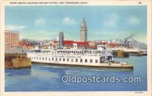 shi045427 - Ferry Boats Leaving San Francisco, California USA Ship Postcard Post Card