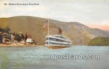 shi045429 - Hudson River West Point Ship Postcard Post Card