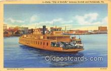 shi045432 - Ferry City of Norfolk Portsmouth, VA USA Ship Postcard Post Card