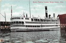 shi045434 - Boston Floating Hospital Boston Harbor, Mass USA Ship Postcard Post Card