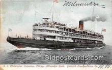 shi045435 - SS Christopher Columbus Chicago, Milwaukee USA Ship Postcard Post Card