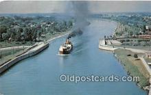 shi045437 - Main St Bridge Welland, Ontario, Canada Ship Postcard Post Card