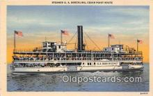 shi045439 - Steamer GA Boeckling Cedar Point Route Ship Postcard Post Card