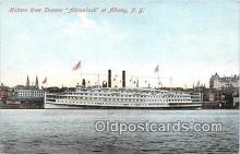 shi045443 - Hudson River Steamer Adirondack Albany, NY USA Ship Postcard Post Card