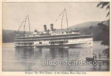 shi045448 - Steamer De Witt Clinton Hudson River Day Line Ship Postcard Post Card