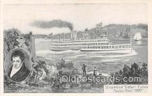 shi045449 - Steamboat Robert Fulton Hudson River 1909 Ship Postcard Post Card