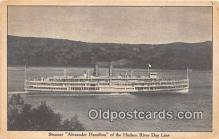 shi045450 - Steamer Alexander Hamilton Hudson River Day Line Ship Postcard Post Card