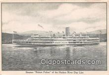 shi045453 - Steamer Robert Fulton Hudson River Day Line Ship Postcard Post Card