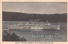 shi045457 - Steamer Alexander Hamilton Hudson River Day Line Ship Postcard Post Card