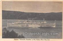shi045465 - Steamer Alexander Hamilton Hudson River Day Line Ship Postcard Post Card