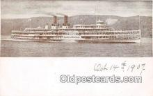 shi045467 - Hudson River Day Line Steamer  Ship Postcard Post Card