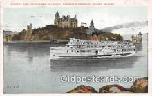 shi045472 - Steamer Passing Heart Island Ship Postcard Post Card