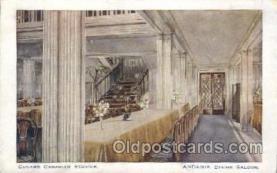 shi050002 - Andania Dinning Saloon Ship Ships, Interiors, Postcard Postcards