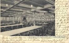shi050004 - Holland, First class dining Saloon Ship Ships, Interiors, Postcard Postcards