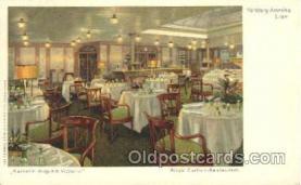 shi050011 - Kaiserin Auguste Victoria, Ritz's Cariton-Restaurant Ship Ships, Interiors, Postcard Postcards