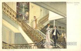 shi050012 - Amerika, Treppenaufgang Ship Ships, Interiors, Postcard Postcards