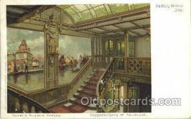 shi050013 - Kaiserin Auguste Victoria, Treppenaufgang im Rauchsalon Ship Ships, Interiors, Postcard Postcards
